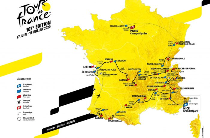Strecke der Tour de France 2020