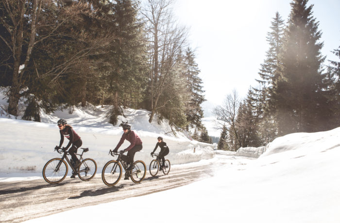 Rennrad-Training im Winter