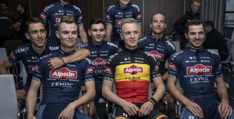 Neues Team Alpecin-Fenix mit Topfahrer Mathieu van der Poel