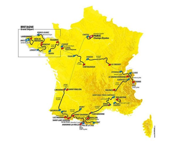 Die Strecke der Tour de France 2021: Alle 21 Etappenprofile im Check